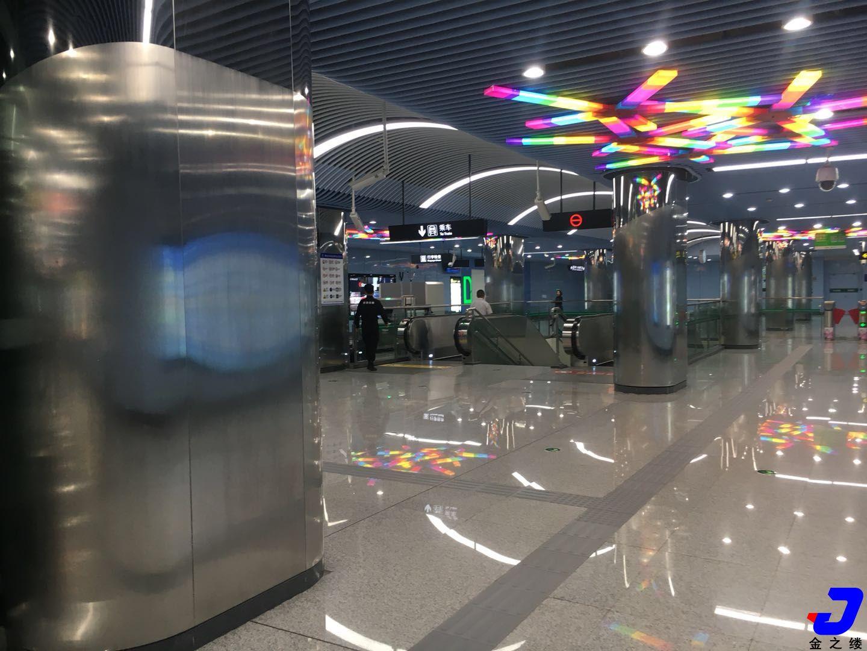 郑州地铁5号线不锈钢装饰